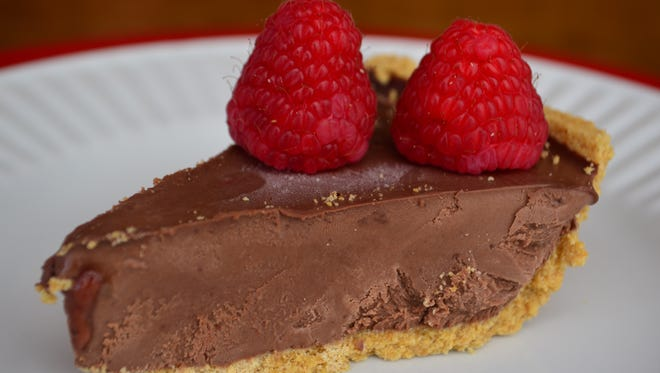 This Foolproof Frozen Chocolate Pie has four ingredients and will make your Valentine fall in love with you because it's delectable. Make this a day in advance.