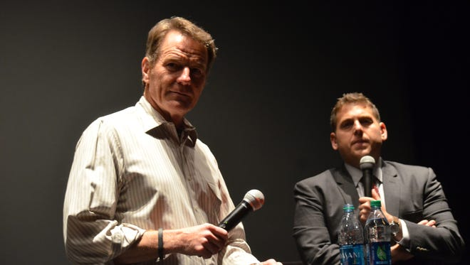 Bryan Cranston is pictured at the Cinemas Palme d'Or in Palm Desert for a Cranston-led Q&A with Jonah Hill on  Jan. 5, 2014.