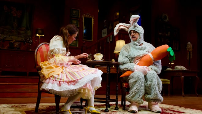"""Lisa K. Bryant and Scott Treadway in """"The Affections of May,"""" currently running at Flat Rock Playhouse."""