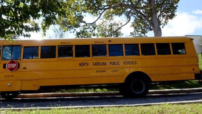 Buncombe County school bus