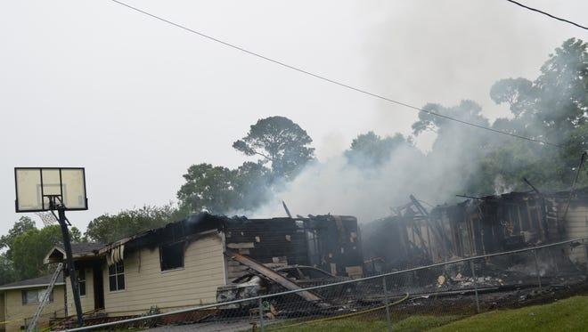 a house fire on Julian Circle