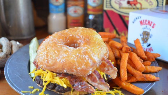 The Ground Pat'i recently introduced a doughnut burger.