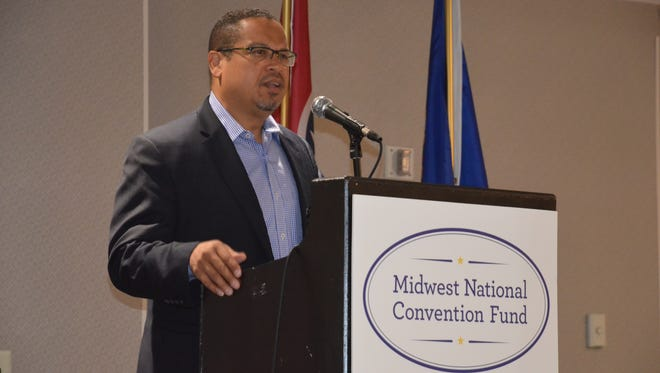 U.S. Rep. Keith Ellison, D-Minn., praised Tennesseans for their support of the Civil Rights Movement during a morning breakfast outside Philadelphia.