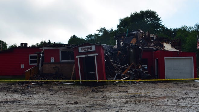 The Hog Wild Bar and Grill in the town of Two Rivers caught fire around midnight on August 1.