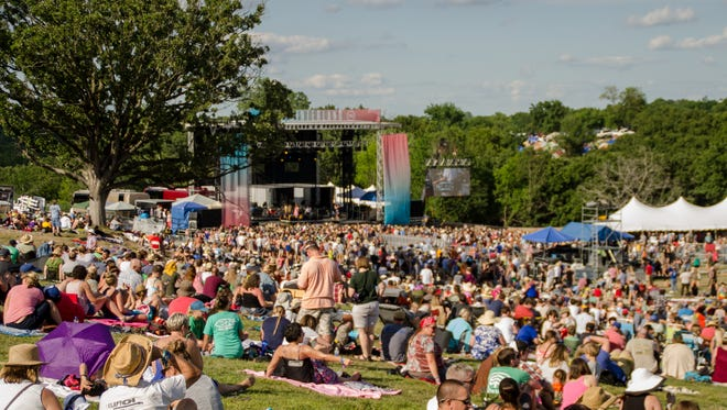 Thousands of people in attendance for the Hinterland Music Festival.