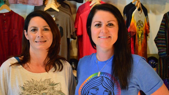 Amanda Masten, left, and Jessica Livingston own HonkyTonk Clothing Co. The ladies have best friends since they met in eighth grade at Cherokee Middle School and wanted to open a business for 20 years.