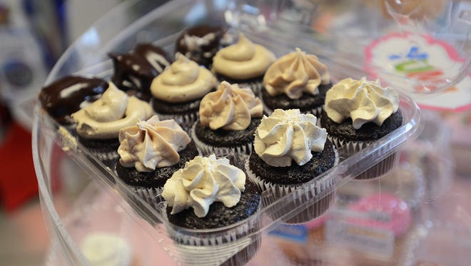 Crazy Cousin Cupcakes offers a variety of flavors including bumpy cake, cola, caramel and latte, pictured above.