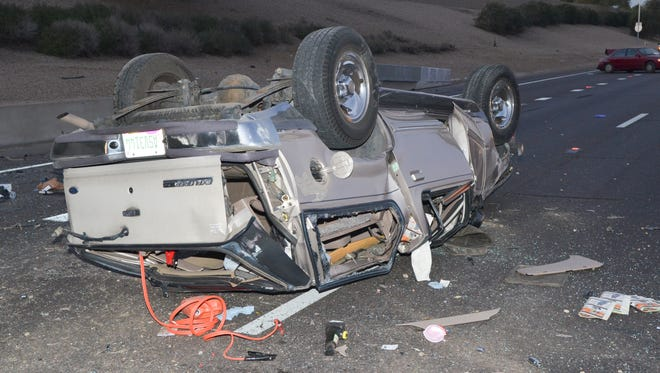 On January 12, 2013, a silver, four-door SUV veered into another lane on Interstate 10 near 43rd Avenue in Phoenix, sideswiping a red Toyota sedan. The SUV driver, who was not wearing a seat belt, was ejected from the vehicle. He was pronounced dead just after 6 a.m. at St. Joseph's Hospital.