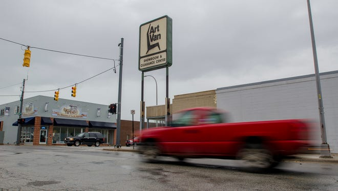 The future is still unwritten for the former Art Van Showroom Monday, Nov. 28, in downtown Port Huron.