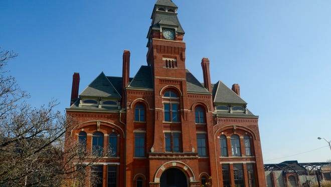 The Clocktower Administration Building stands in Chicago's Pullman Historic District.