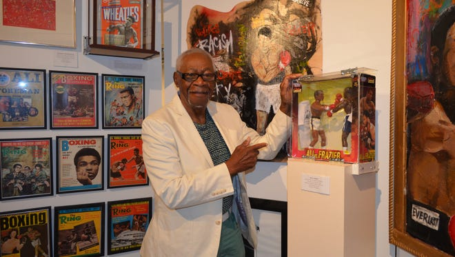 """Ralph E. Hunter Sr., founder and president of the African American Heritage Museum. The museum's most recent exhibit, """"Black Cowboys and Buffalo Soldiers"""" will be open through April 30."""