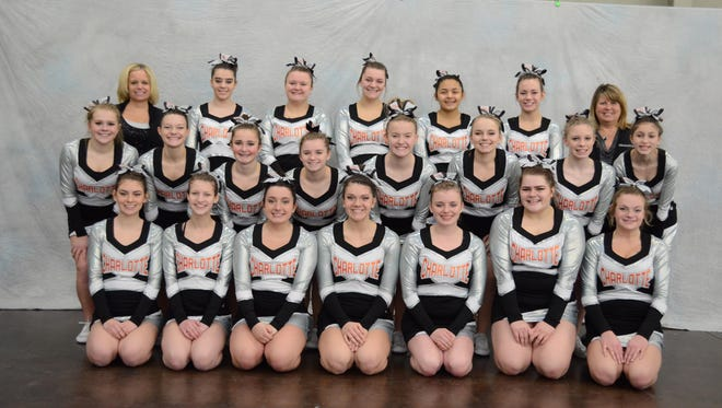 The Charlotte competitive cheer team had a historic season that ended with a sixth-place finish at the state finals.