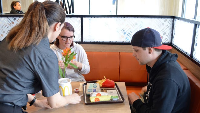 Customers receive table service at McDonald's in Cape May Courthouse.