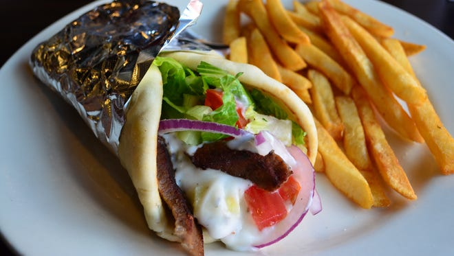 The gyros ($7.99) at Riad is the best in Springfield. Tender gyros meat is wrapped in ultra soft pita bread that the owner gets from Chicago. He makes his own tzatziki sauce. The gyros are excellent.