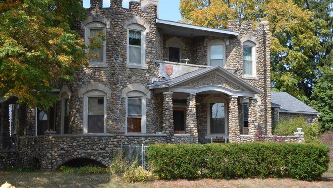 Penniman's castle house, seen from East Kingman Avenue.