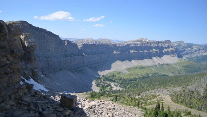 Seeing the Chinese Wall in the Bob Marshall Wilderness is an option with 7 Lazy P Outfitting of Choteau, which will be at the What Women Want Expo.