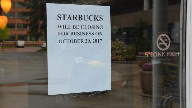 The Starbucks in McCamly Plaza is closing as part of the McCamly Plaza Hotel renovations and rebranding.