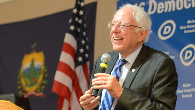 Sen. Bernie Sanders, I-Vt., speaks to Vermonters at a breakfast during the Democratic National Convention in Philadelphia on July 27, 2016.