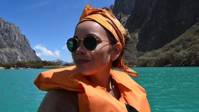 Jackie Boylehart traveled to Peru through Venture with Impact. Here, she's on a boat ride through Huascaran National Park.