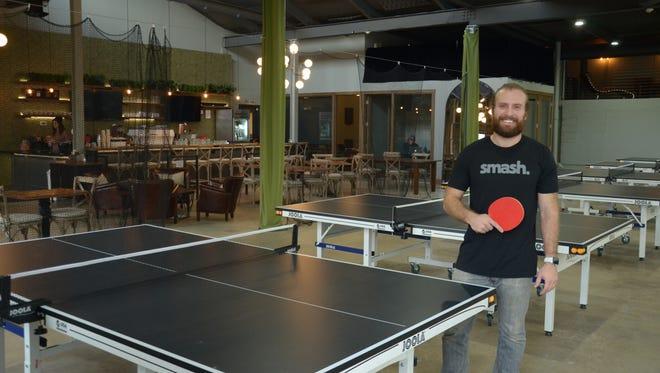 Chris Palmer, of Smash Social, Indianapolis' first pingpong bar. It opens Dec. 12, 2017.