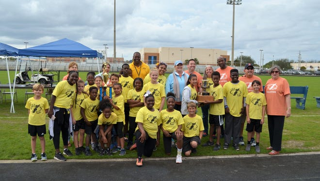 J.D. Parker athletes and coaches continued their reign as the team won the Russell Holloway Elementary School Track Meet overall title for the sixth year in a row.