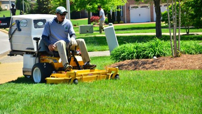 A lawn service provider hired through GreenPal