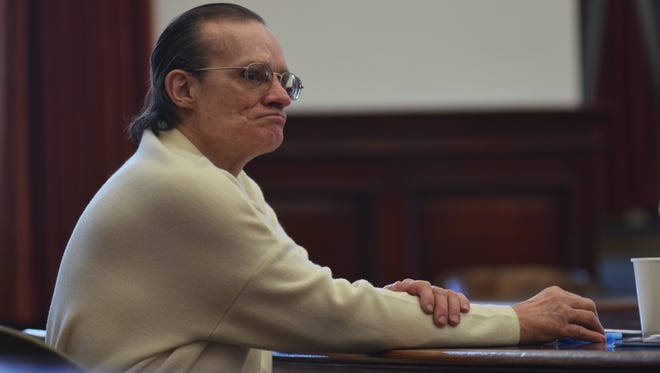 Richard Tome listens to opening arguments during his first trial in 2018.