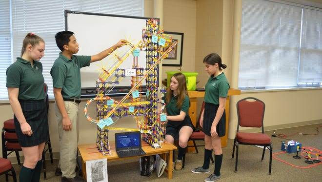 St. Matthias students coast through their STEM project!