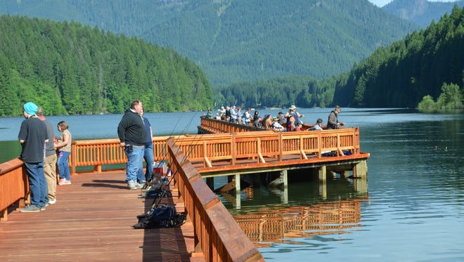 The event at Hoover campground and boat ramp is popular with kids and adults and offers an accessible fishing platform.