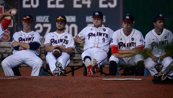 The Chillicothe Paints bullpen takes in the game in this June 1, 2018, file photo.