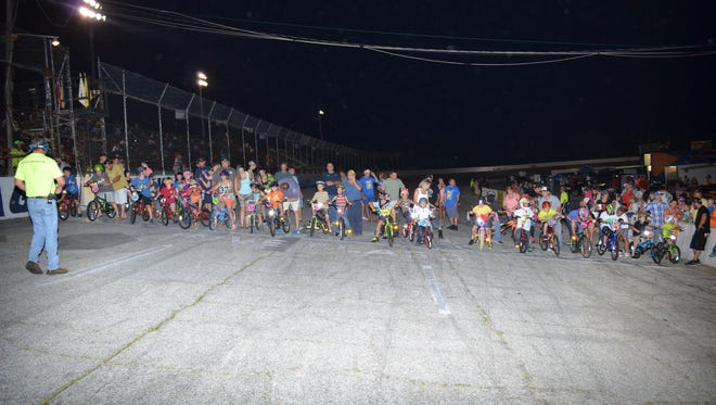Kids' bicycle races will take over Five Flags Speedway this weekend.