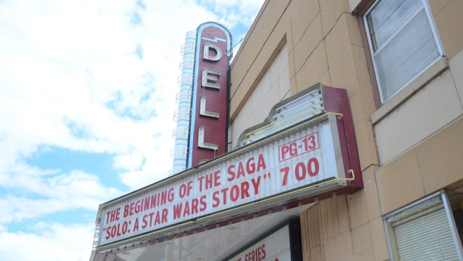 """The exterior of the Dells Theatre, which is currently showing """"Solo: A Star Wars Story."""""""