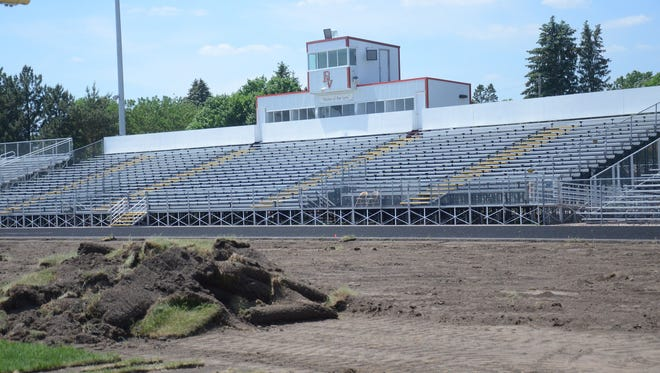 Brandon Valley High School is getting a new artificial turf at its sports complex. The project is on time, and the first event scheduled on the new surface is a girls soccer game in August.