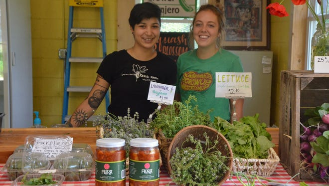 Olivia Jayakar (left) and Kenzie Clair are the co-owners of Squash Blossom Farms.