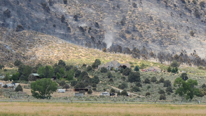 The burn scar of the Upper Colony Fire in Smith Valley.