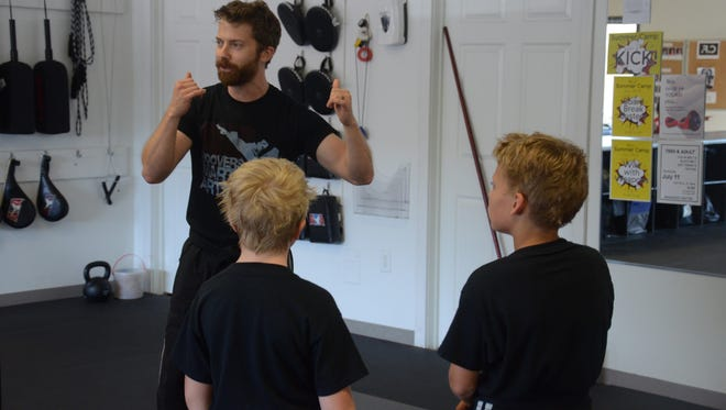 Rob Green conducts a class at Hoover Martial Arts.