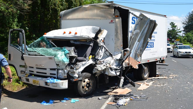 The driver of a box truck was seriously injured in a crash with a dump truck on Roue 22 in Mountainside Thursday.