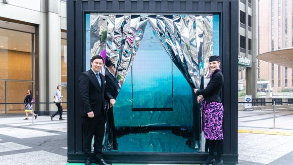 Air New Zealand unveiled a promotional 'pop-up' event