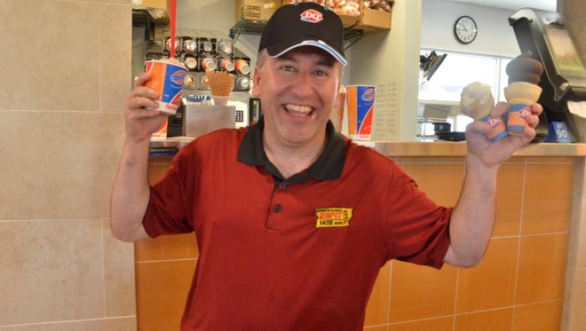 KPEL 1420 radio host and UL sideline reporter Steve Peloquin, seen here at the Dairy Queen last May, was hurt in a postgame scuffle following UL's win over Arkansas State.