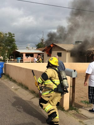 One dog was dead after a house fire erupted at 27th Avenue just south of Highland on Wednesday afternoon, according to the Phoenix Fire Department.