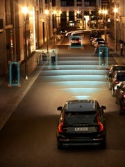 Volvo's City Safety features Pedestrian and Cyclist detection with full auto brake, day and night.