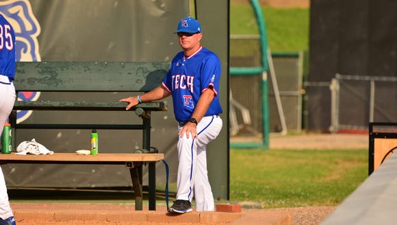 Louisiana Tech pitching coach Christian Ostrander is