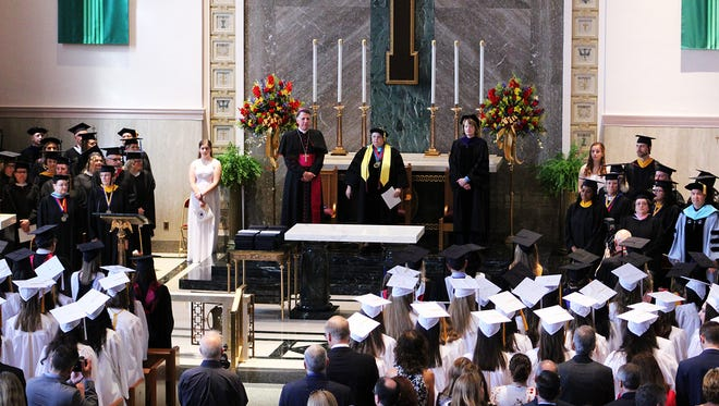 Graduation ceremonies for the Class of 2018 at Mount Saint Mary Academy were conducted on Saturday, June 2, in the chapel of the academy's Watchung campus.