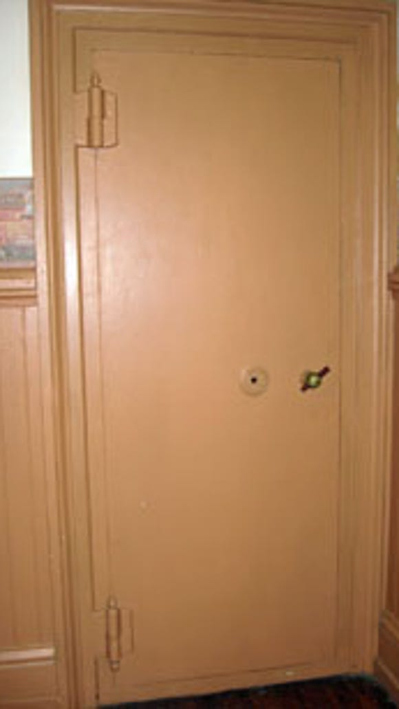 Door to large built-in safe