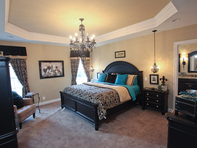 The master bedroom in the home of Brette and Bryan Mabry in Louisville, KY. Sept. 30, 2013