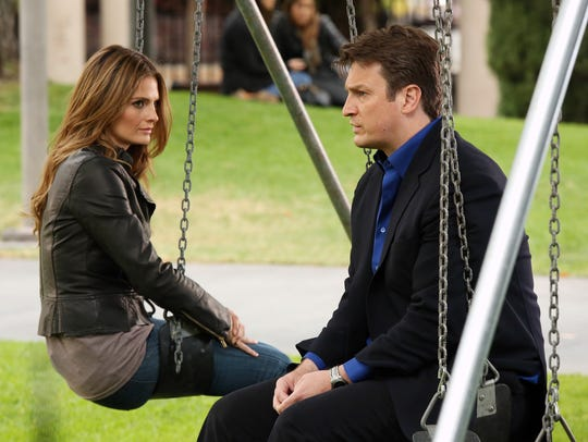 The relationship between Beckett (Stana Katic), left, and Castle (Nathan Fillion) was a case of opposites attract, but it worked better on camera than behind the scenes.