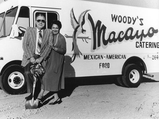 Macayo's founder Woody Johnson and his wife, Victoria.