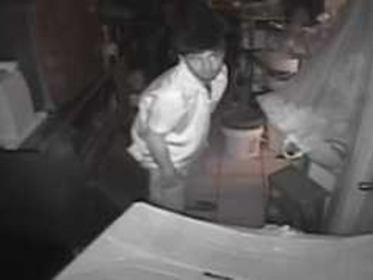 Dewey Beach Police Department describes the Woody's burglary suspect as a white male with a chinstrap beard.