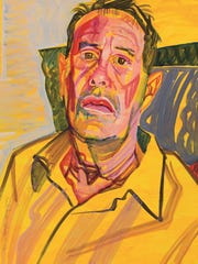 """""""Kenneth Anger,"""" 1999, acrylic on paper, by Don Bachardy."""