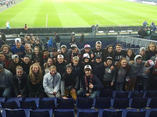 Kentucky ODP players take in a match at Feyenoord's stadium, De Kuip.